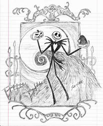 Jack Skellington (Pen Sketch) by jonmarkiewitz
