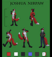 Joshua Ref Sheet Commission by NaterRang