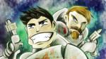 Aston y Tulki en DEAD SPACE 3 by Tigry86