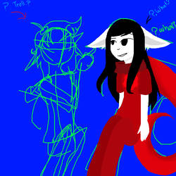 ?.A.drawing.of.the.troll.and.me.? -Not complete- by Darker001