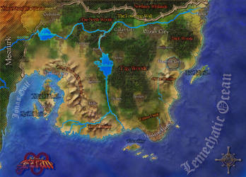 Map of Ezran by KirbBrimstone