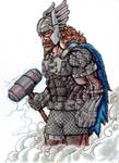 DCU Thor - $20 Character Sketch by KirbBrimstone