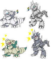 Mega Aggron Canon and Fanon by YingYangHeart