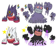 Mega Gengar Canon and Fanon by YingYangHeart