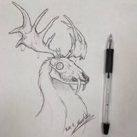 Black Light pen sketch (2015) by TheAmazingTrashCan