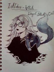 Inktober - Day 6 - Black Cat by SarahDealerEvans