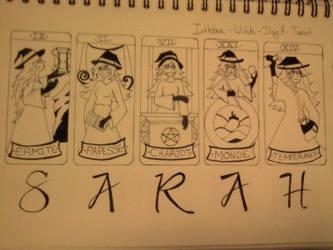 Inktober - Day 8 - Tarot by SarahDealerEvans
