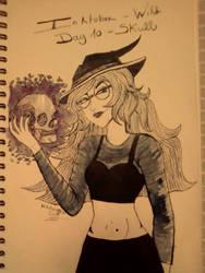 Inktober - Day 10 - Skull by SarahDealerEvans