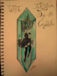 Inktober - Day 16 - Crystals by SarahDealerEvans