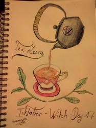 Inktober - Day 17 - Tea Leaves by SarahDealerEvans