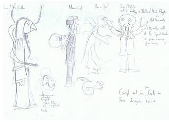 Gods Concept Art For Comic by xianyu118