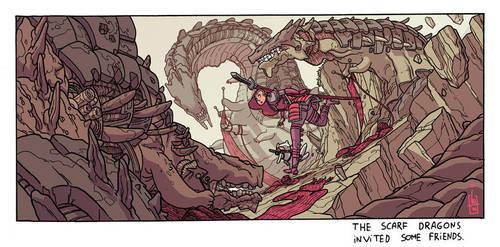 Scarf Dragons by IgorWolski