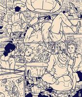 Girls night out LINEART by IgorWolski