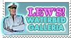Lew's Waterbed Galleria Stamp by CrystalCurtisArt