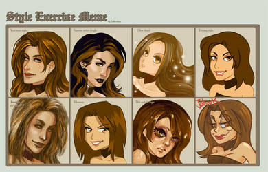 Style Exercise Meme by CrystalCurtisArt