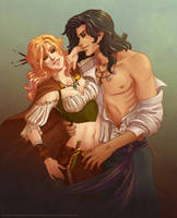 Rin and Mahdar by CrystalCurtisArt