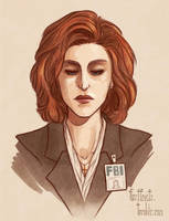 Dana Scully by CrystalCurtisArt