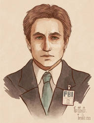 Fox Mulder by CrystalCurtisArt