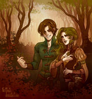 In the Vale by CrystalCurtisArt