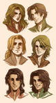 LitV Characters by CrystalCurtisArt