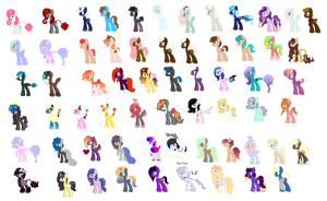 All My OCs (out dated) by Turtlezgomoo