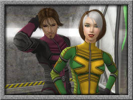Danger: Rogue and Gambit by Synapse928