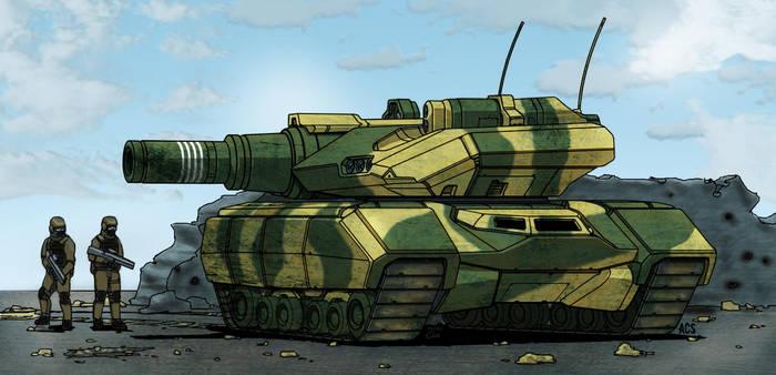 Churchill Tank by Clu-art