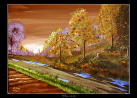 Autumn after Rain by Clu-art