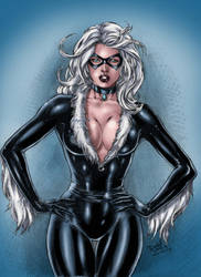 Marvels Black Cat by Clu-art