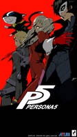 Persona 5 -- iPhone 6 Wallpaper (Colored Version) by LazyAxolotl