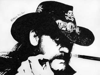 Lenny - black ink (fountain pen) on paper by morgain-ized