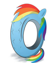 Tired Rainbow Dash by 041744