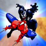 Spidey vs. Venom by sweetjimmy