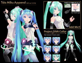 Tda Miku Append : WIP ver1.03 - DL Improved model by TOUKO-P