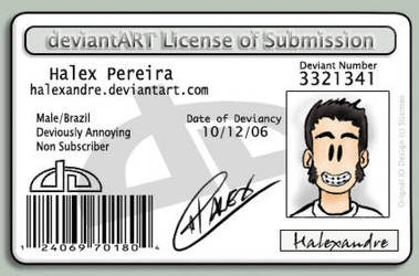 deviant License by Halexandre