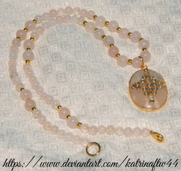 Rose Quartz Kundan Indian Necklace by KatrinaFTW44