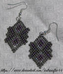 Grey and Purple Earrings by KatrinaFTW44