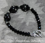 Black Beaded Beads Bracelet by KatrinaFTW44