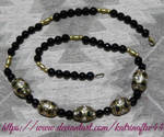Black Onyx and Nepali Bead Necklace by KatrinaFTW44