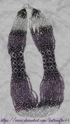 Purple Ukrainian Necklace by KatrinaFTW44
