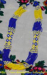 Dark Blue, Yellow and White Ukrainian Necklace by KatrinaFTW44