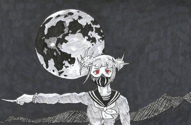 Inktober 2018-Day 8 | Moon by ZinaZoo