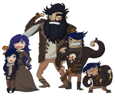Barbarian Family by Nerdypoo