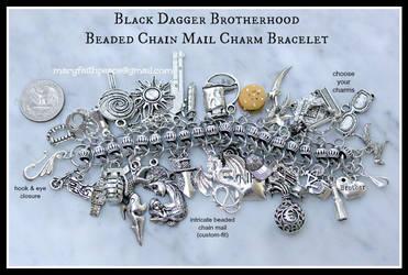 Black Dagger Brotherhood Chain Mail Bracelet by maryfaithpeace