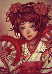 Sakura - Collab by agnes-green