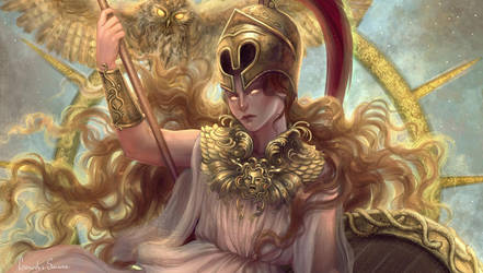 Athena (detail) by agnes-green