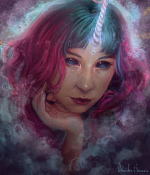 Portrait of Marcela Pardo by agnes-green
