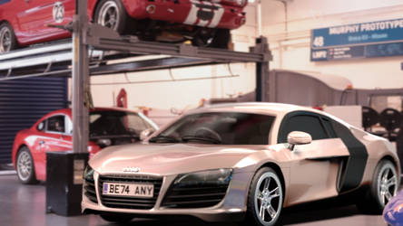 Audi R8 Advanced CG Model - Nuke Compositing by BethsFienneArt