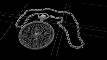 CGI Antique Watch Wireframe by BethsFienneArt