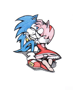 sonic and amy rose by rotten-jelly-babie